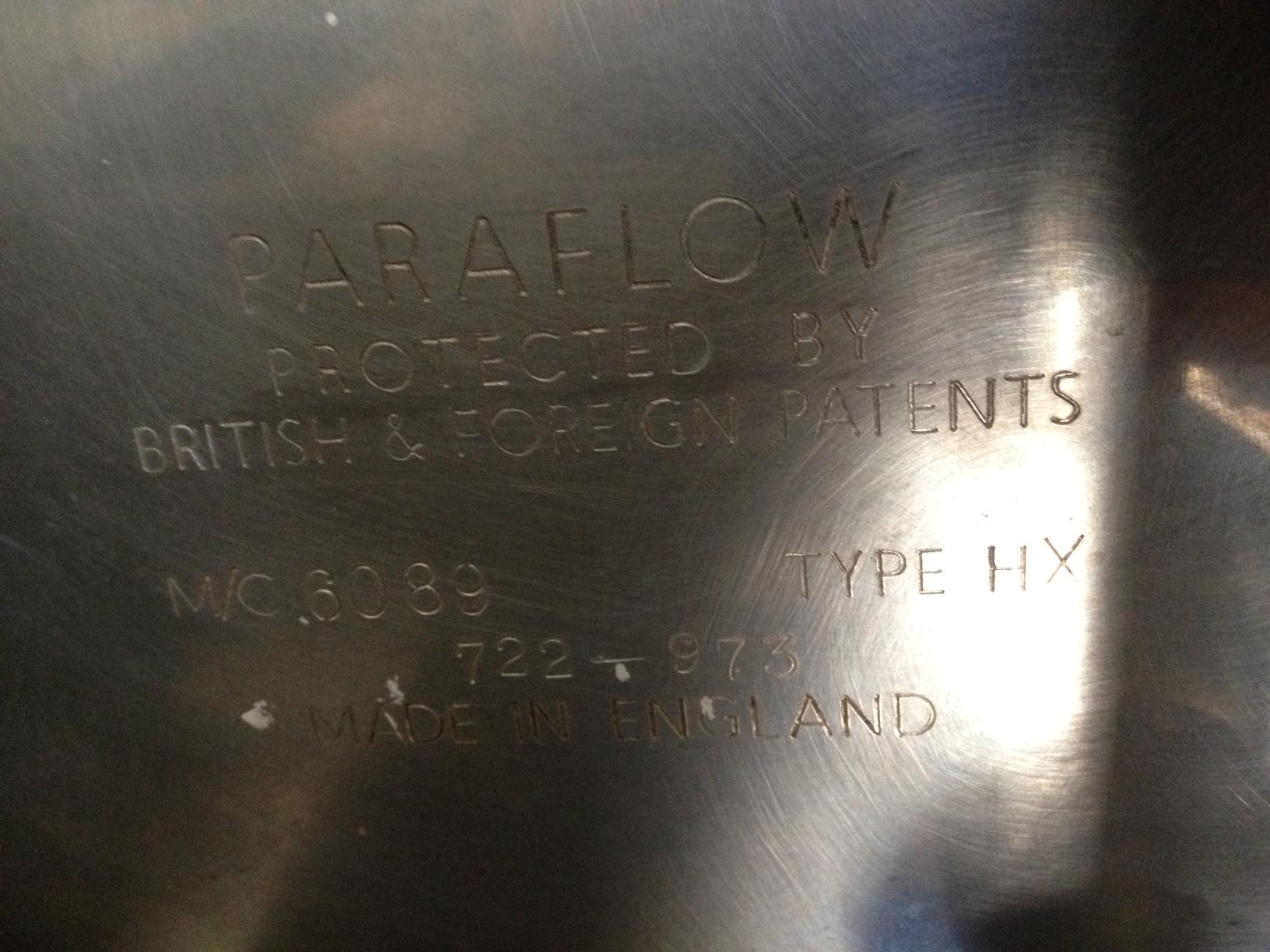Échangeur à plaques APV Paraflow Type HXMC6089 MS 722-973