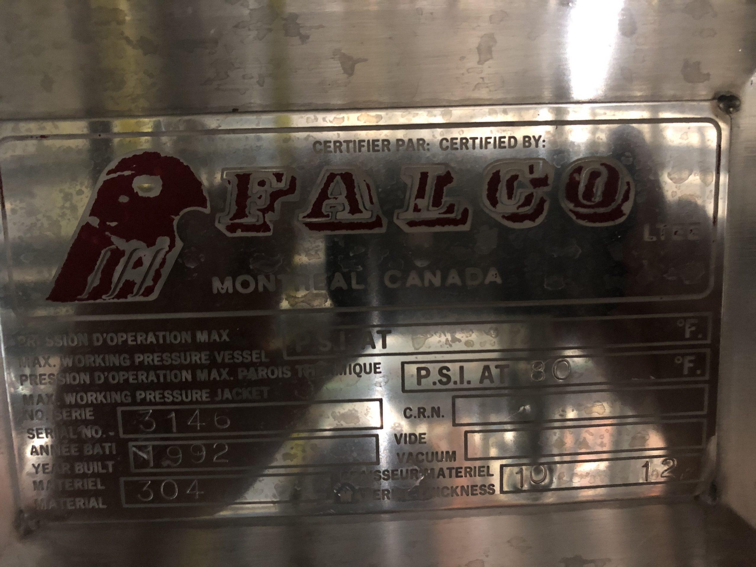 Silo Falco 38000 litres extérieur acier blanc