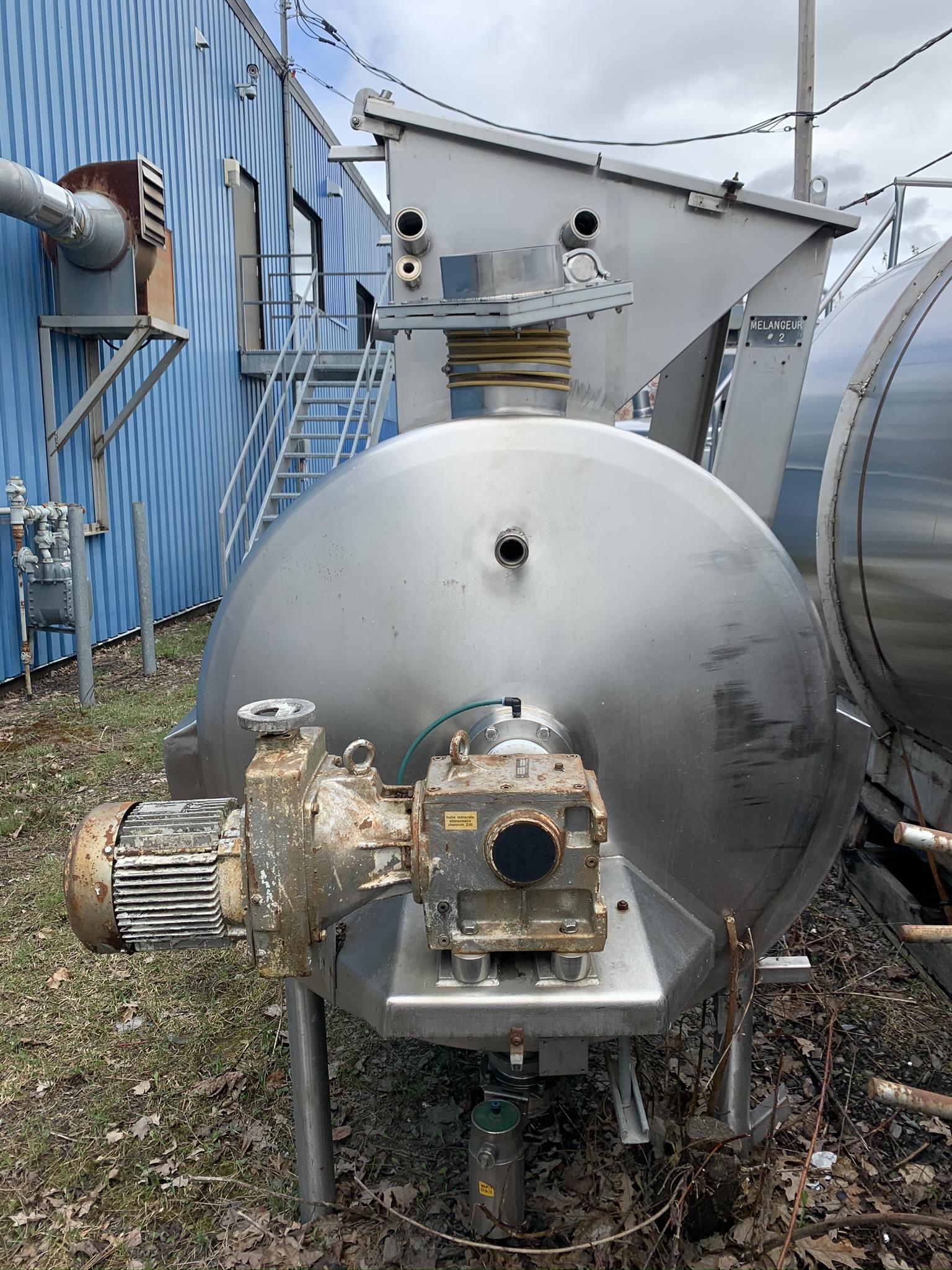 Mix tank – Mélangeur horizontal Alfa Laval chauffant 1500 litres