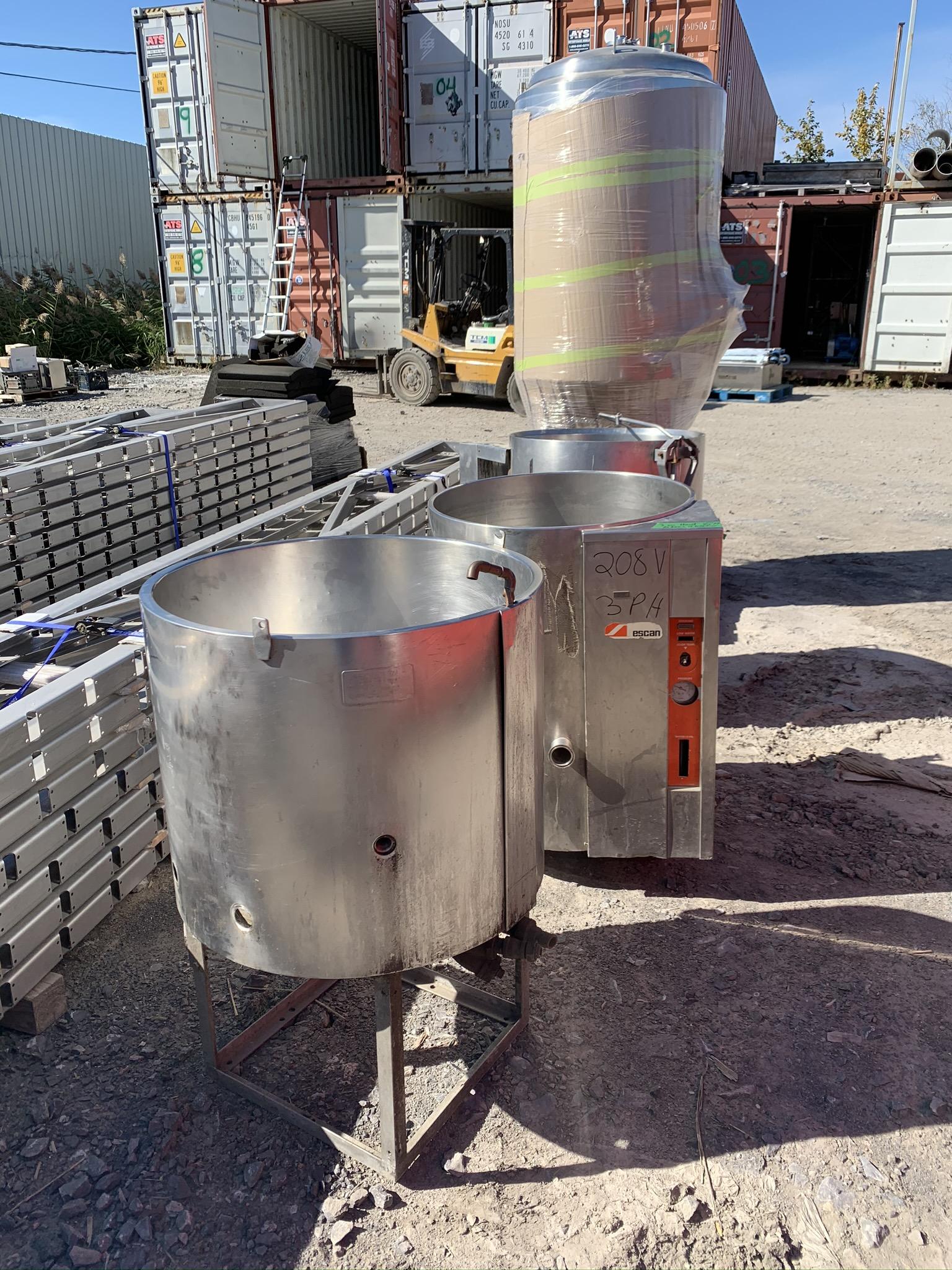 3 cuiseurs type Garland Welbilt 100 litres