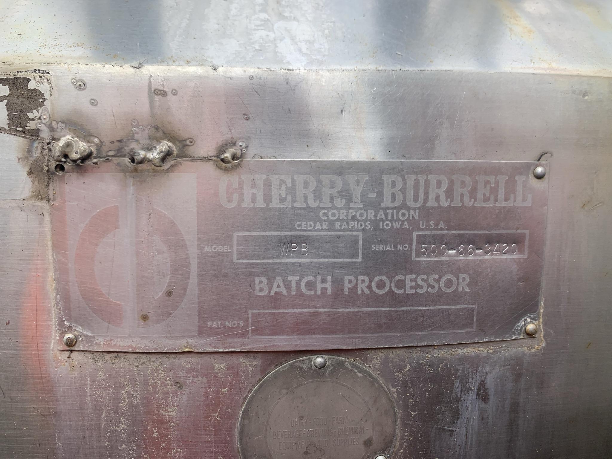 Cuve de procédé 3000 litres Cherry-Burrell