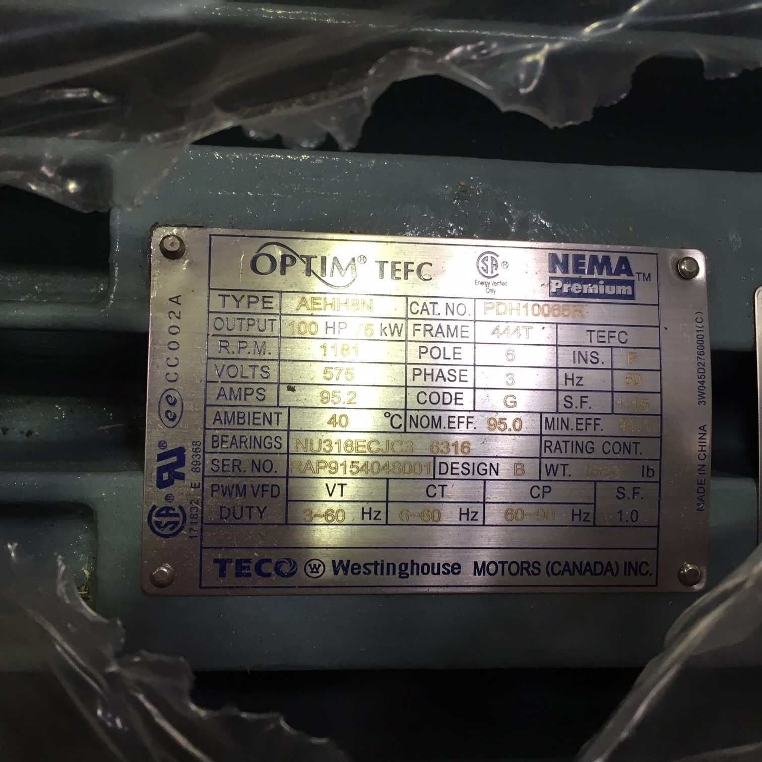 Homogénéisateur Gaulin 4650 MC-75 2TPS